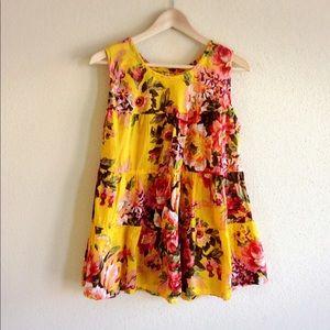 Tops - BOHO Multicolor Floral Top